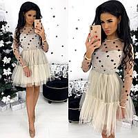 Воздушное праздничное новогоднее платье