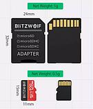 Карта памяти BlitzWolf на 32 GB / BW-TF1 Class 10 UHS-3 V30 Micro SD флешка + адаптеры, фото 3