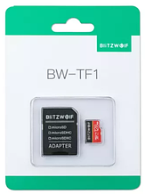Карта памяти BlitzWolf на 32 GB / BW-TF1 Class 10 UHS-3 V30 Micro SD флешка + адаптеры