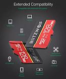 Карта памяти BlitzWolf на 32 GB / BW-TF1 Class 10 UHS-3 V30 Micro SD флешка + адаптеры, фото 5