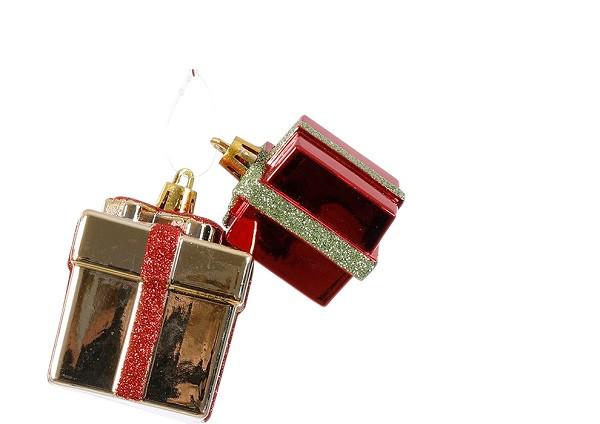 Украшение декоративное Новогодее, Подарок, компл. 2 шт., в асс. 6,5 см, House of Seasons
