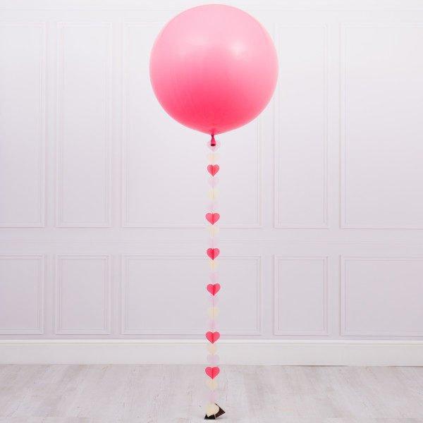 Латексный шар 60 см с гелием с обработкой , цвет на выбор