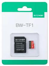 Карта памяти BlitzWolf на 16 GB / BW-TF1 Class 10 UHS-3 V30 Micro SD флешка + адаптеры