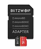 Карта памяти BlitzWolf на 16 GB / BW-TF1 Class 10 UHS-3 V30 Micro SD флешка + адаптеры, фото 2