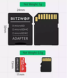 Карта памяти BlitzWolf на 16 GB / BW-TF1 Class 10 UHS-3 V30 Micro SD флешка + адаптеры, фото 3