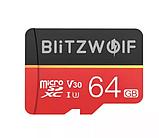 Карта памяти BlitzWolf на 16 GB / BW-TF1 Class 10 UHS-3 V30 Micro SD флешка + адаптеры, фото 4