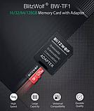 Карта памяти BlitzWolf на 16 GB / BW-TF1 Class 10 UHS-3 V30 Micro SD флешка + адаптеры, фото 6