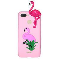 Чехол Cartoon 3D Case для Xiaomi Redmi 6 Фламинго