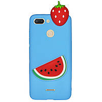 Чехол Cartoon 3D Case для Xiaomi Redmi 6 Арбуз