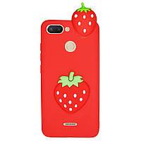 Чехол Cartoon 3D Case для Xiaomi Redmi 6 Клубничка