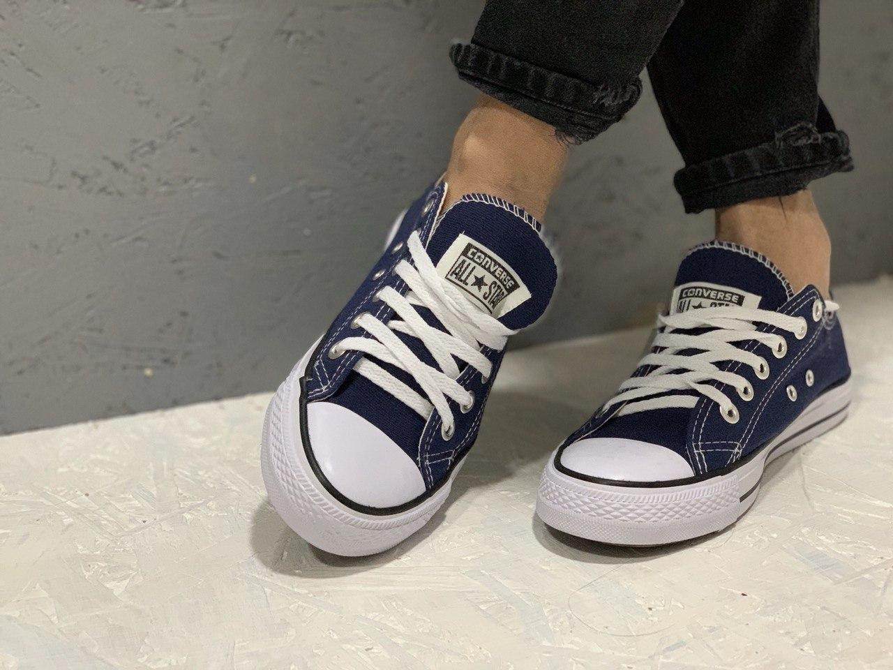 Кеды Converse All Stars Blue Low  (синие) 37