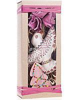 Подарочный новогодний набор малый в марсаловых оттенках Жар Птица