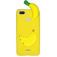 Чехол Cartoon 3D Case для Xiaomi Redmi 6 Бананы