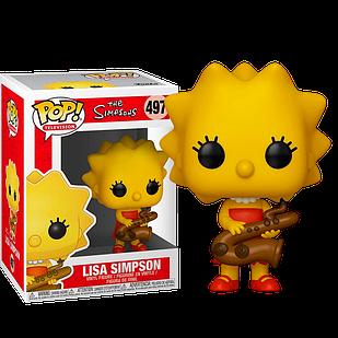 Фигурка Funko Pop Фанко Поп Симпсоны Лиза с саксофоном The Simpsons Lisa with Saxophone 10 см S L 497
