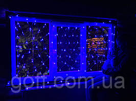 Гирлянда сетка светодиодная, 120 Led, 1,5x1,5 м, Синий