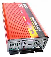 Инвертор Power Inverter 4000W 12V в 220V с функцией плавного пуска, фото 2