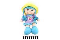 Кукла мягкая муз. в шляпе 3 вида 36*21см /120-2/(19R14AB/20R14DAB)