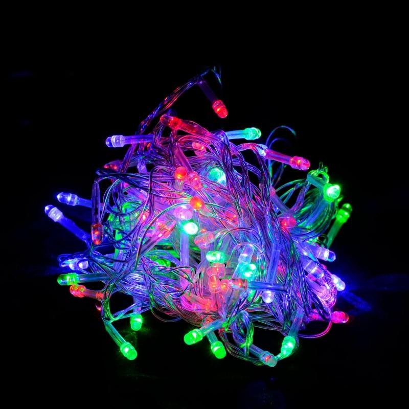 Гирлянда светодиодная 100 LED разноцветная