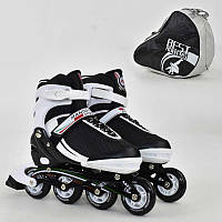 Ролики Best Roller бело-черные, размер 39-42, колеса PU, в сумке - 185920