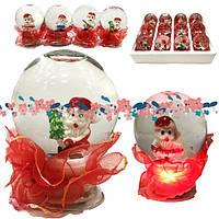 Шар светящий Дед Мороз 7 см