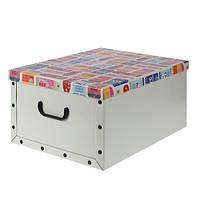 Коробка для хранения с крышкой (молочная), 49,5х39х24 см