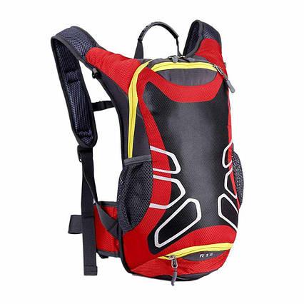 Велосипедный рюкзак HuWai R15 с отделением для шлема и выходом для воды Red
