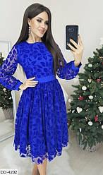 Красивое женское платье  флок. Размеры: 42, 44, 46