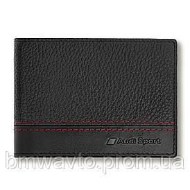 Чоловічий шкіряний міні-гаманець Audi Sport mini Wallet Leather, Mens 2019
