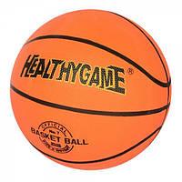 Мяч баскетбольный размер 7 (резина, 8 панелей, рисунок-печать, 500-540 г.), VA-0001