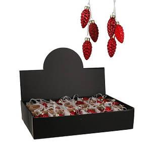 Украшение клипса декоративная Шишки, компл. 3 шт., цвет красный в асс., House of Seasons, фото 2