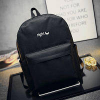 Стильный рюкзак с вышивкой день-ночь Черный