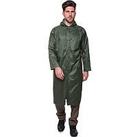 Плащ водостойкий TY-0530 от дождя с капюшоном (нейлон, цвет оливковый)