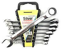 Набор ключей рожково-накидных с трещоткой Silver Польша 8 предметов (8-22)