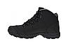 Зимние ботинки мужские Restime чёрные, нубук, размеры в наличии ► [ 41 42 43 44 45 ], фото 3