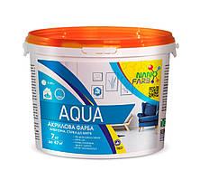 Интерьерная акриловая краска моющая Aqua Nano farb 7 кг