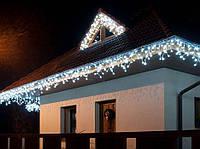 Гирлянда Бахрома 120 LED уличная Белая,5 м, белый каучуковый провод