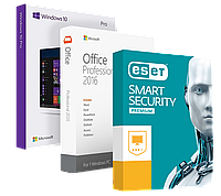 АКЦИЯ! windows 10 pro + office 2016 + eset