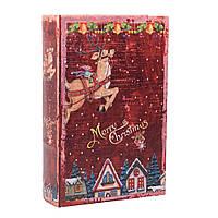 Шкатулка фолиант НГ Merry Christmas кожзам L 106579-1