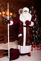 Новогодний костюм Деда Мороза Babe kingdom бордовый