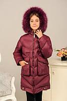 Зимний пуховик - пальто «Катрина» на девочку 9-18 лет (эко-пух, р. 36-46 / 134-164) ТМ MANIFIK 6 цветов