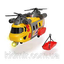 Вертоліт Служба порятунку 30 см з лебідкою світло, звук Dickie Toys 3306004