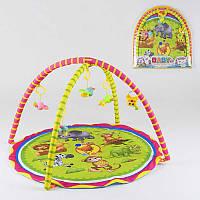 Коврик для младенцев, 5 подвесок погремушек, в сумке - 183298