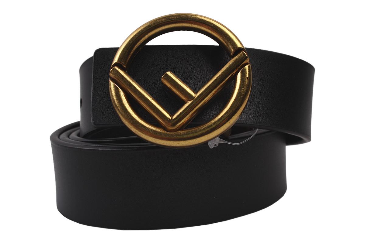 Ремень женский кожаный, цвет черный (длина 120 см, ширина 2 см)