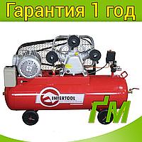 Компрессор INTERTOOL PT-0036 100 л, 4 кВт, 380 В, 8 атм, 600 л/мин. 3 цилиндра.