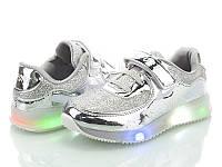 Детские светящиеся LED кроссовки на девочку бренд BBT Размеры 31- 35