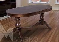 Обеденный овальный стол Эдельвейс 160х90(+40+40)см