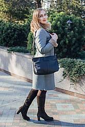 Женская кожаная сумка 46 черный флотар 01460101