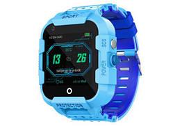 Детские умные часы Smart baby Watch Df39z Blue ip54 4G видеозвонок SOS 730 мАч