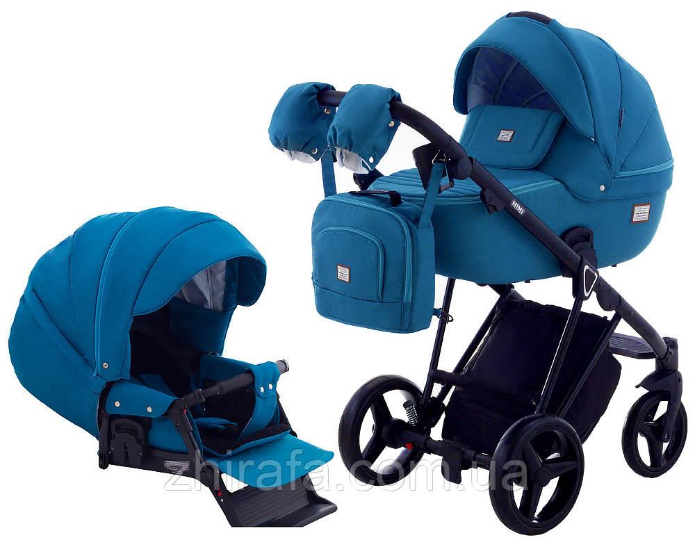 Коляска 2 в 1 Adamex Mimi CR37 синий