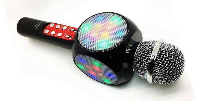 Беспроводной караоке микрофон (USB, microSD, AUX, FM, Bluetooth)  Wester WS-1816